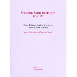 Sand, George – Sand critique, 1833-1876