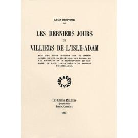 [Villiers de l'isle-adam] Deffoux, Léon. Les derniers jours de Villiers de l'Isle-Adam