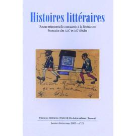 Histoires littéraires 2001-2005 – n° 21