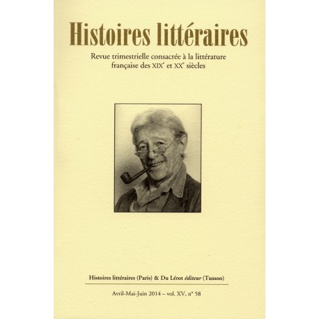 Histoires littéraires 2014 - n° 58