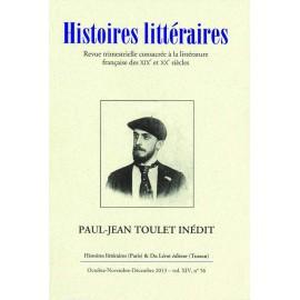Histoires littéraires 2013 - n° 56