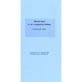 Tillier, Bertrand – Maurice Sand à « sa » conquête de l'édition