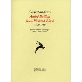 Baillon, André et Bloch, Jean-Richard – Correspondance 1920-1930