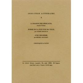Le Lérot rêveur n°34 – juin 1982. Industrie littéraire