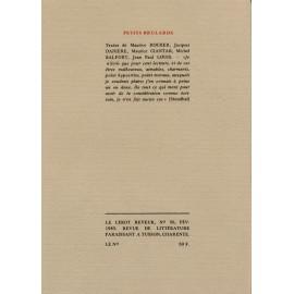 Le Lérot rêveur n°36 – février 1983. Petits brûlards