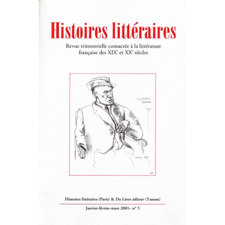 Histoires littéraires 2001 – n° 5