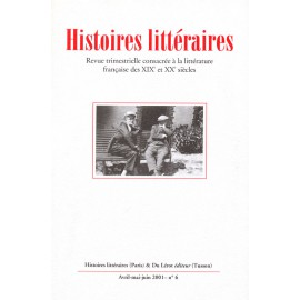 Histoires littéraires 2001 – n° 6
