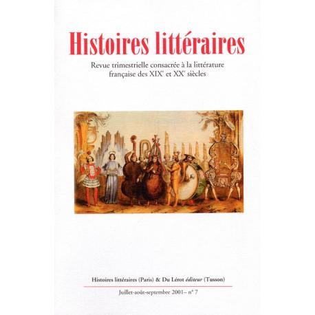 Histoires littéraires 2001 – n° 7