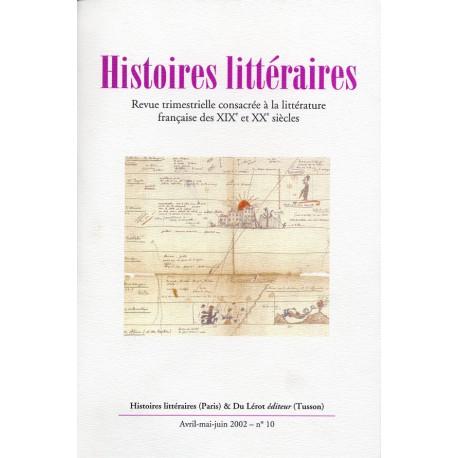 Histoires littéraires 2002 – n° 10
