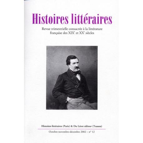 Histoires littéraires 2002 – n° 12