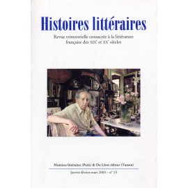 Histoires littéraires 2003 – n° 13