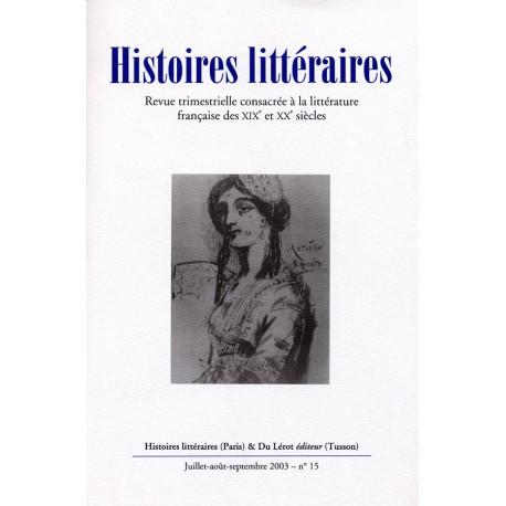 Histoires littéraires 2003 – n° 15