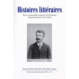 Histoires littéraires 2003 – n° 16
