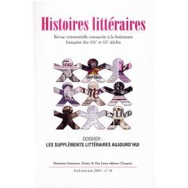 Histoires littéraires 2004 – n° 18