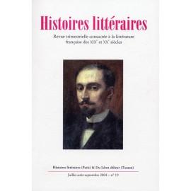 Histoires littéraires 2004 - n°19