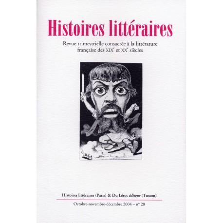 Histoires littéraires 2004 – n° 20