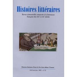 Histoires littéraires 2005 – n° 22