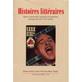 Histoires littéraires 2006 – n° 26