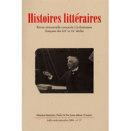 Histoires littéraires 2006 – n° 27