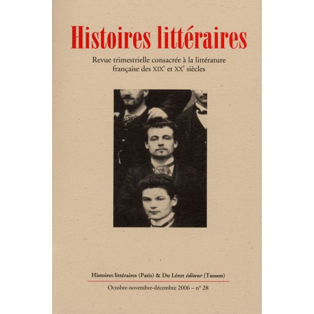 Histoires littéraires 2006 – n° 28