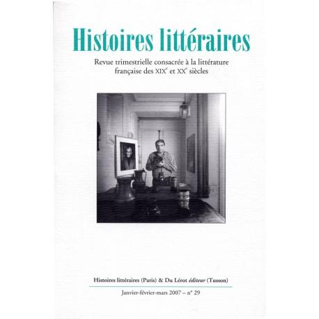Histoires littéraires 2007 – n° 29