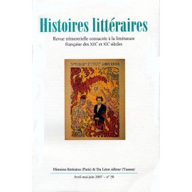 Histoires littéraires 2007 – n° 30