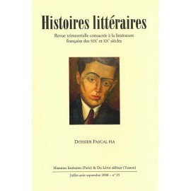 Histoires littéraires 2008 - n° 35