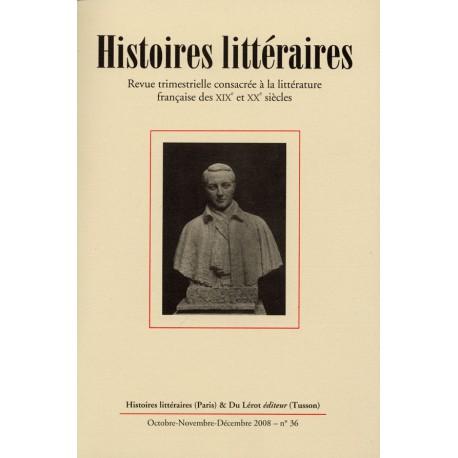 Histoires littéraires 2008 - n° 36