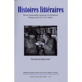 Histoires littéraires 2009 - n° 37
