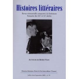 Histoires littéraires 2009 - n° 39
