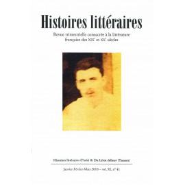 Histoires littéraires 2010 - n° 41