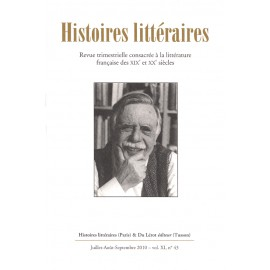 Histoires littéraires 2010 - n° 43
