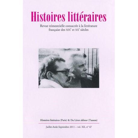 Histoires littéraires 2011 - n° 47