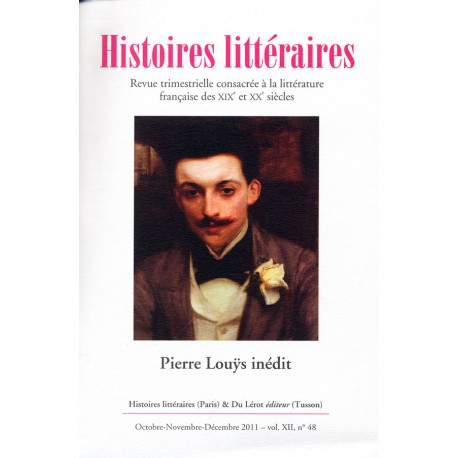 Histoires littéraires 2011 - n° 48