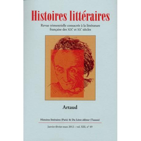 Histoires littéraires 2012 - n° 49