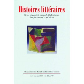 Histoires littéraires 2012 - n° 50