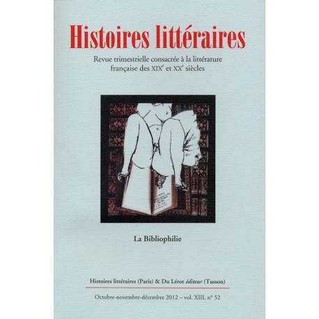 Histoires littéraires 2012 - n° 52