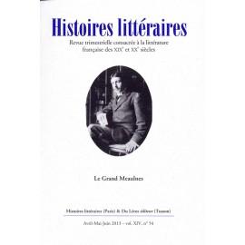 Histoires littéraires 2013 - n° 54