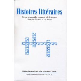 Histoires littéraires 2005 – n° 24