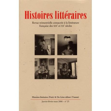 Histoires littéraires 2006 – n° 25