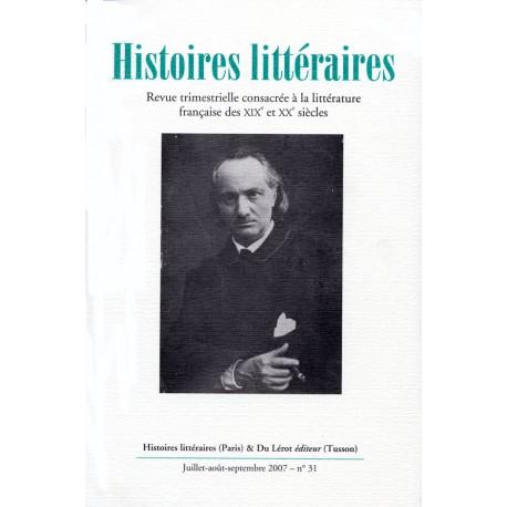 Histoires littéraires 2007 – n° 31