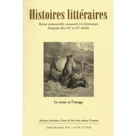 HISTOIRES LITTERAIRES 59-60