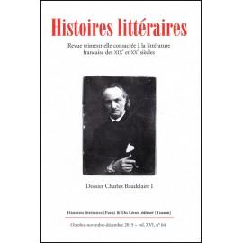Histoires littéraires 2015 - N° 64