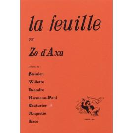 Zo d'Axa – La Feuille, fac-similé à l'identique des 25 numéros (1899-1900)