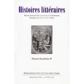 Histoires littéraires 2016 - N° 65