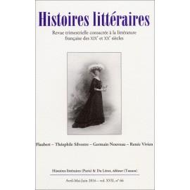 HISTOIRES LITTERAIRES - Numéro 66