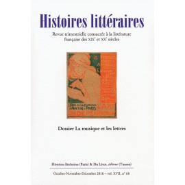 HISTOIRES LITTERAIRES 58