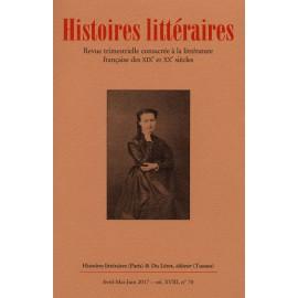 HISTOIRES LITTERAIRES 2017 - numéro 70