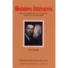 Histoires littéraires 2017 - n° 72