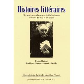 HISTOIRES LITTERAIRES N°72